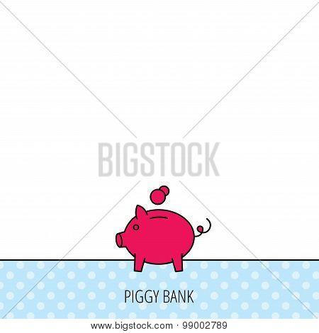 Piggy bank icon. Money economy sign.