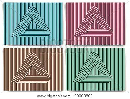 Background With Triangular