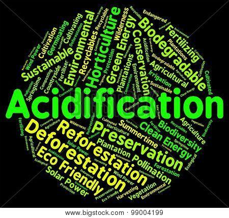 Acidification Word Indicates Text Ph And Environment
