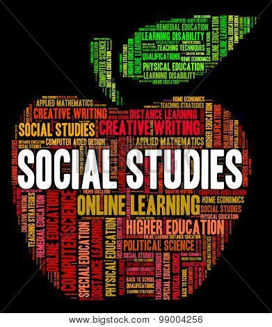 Social Studies Shows Common Studying And Study