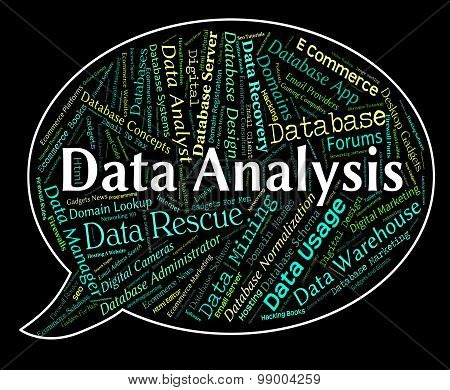 Data Analysis Means Analytic Text And Word
