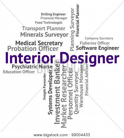 Interior Designer Shows Hire Words And Occupations