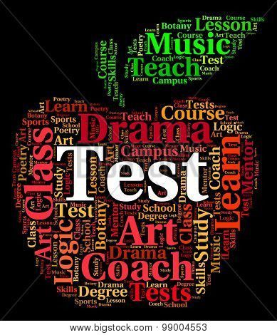 Test Word Indicates Examinations Text And Assessment