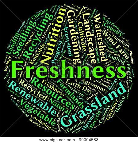 Freshness Word Means Freshen Raw And New