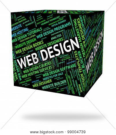Web Design Represents Word Designers And Websites