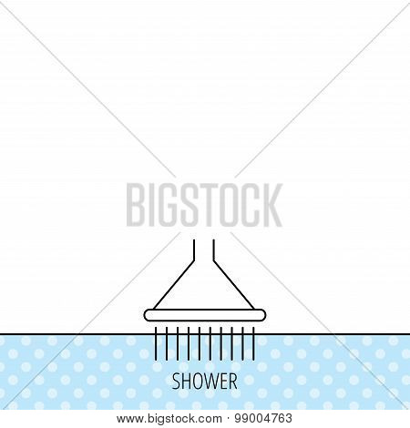 Shower icon. Washing equipment sign.