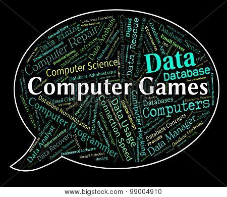 Computer Games Represents Play Time And Communication