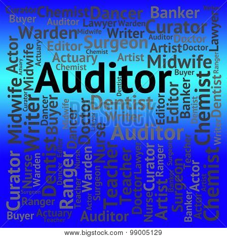 Auditor Job Shows Occupation Auditing And Jobs