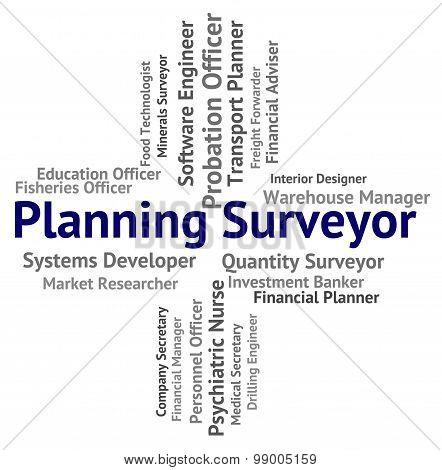 Planning Surveyor Indicates Mission Surveying And Work