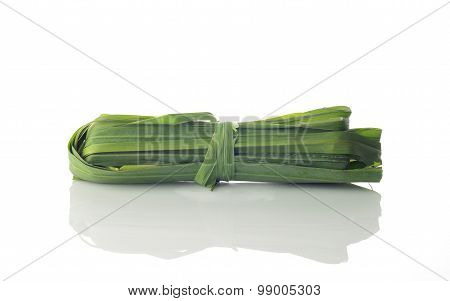 Fresh Green Lemon Grass On White Background