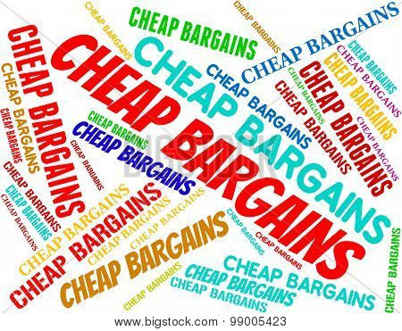 Cheap Bargains Means Special Offer And Discounts