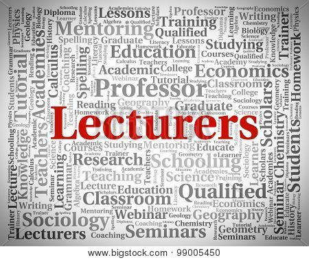 Lecturers Word Represents Recitation Recitations And Oration