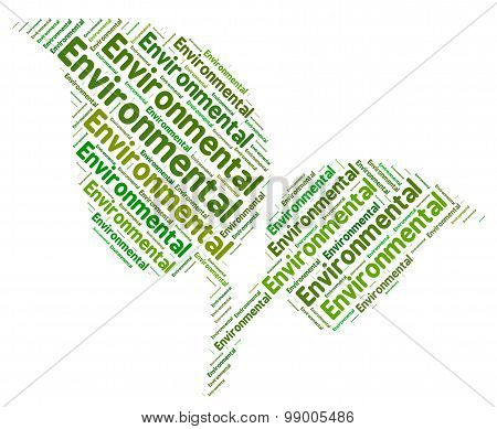 Environmental Word Represents Go Green And Earth