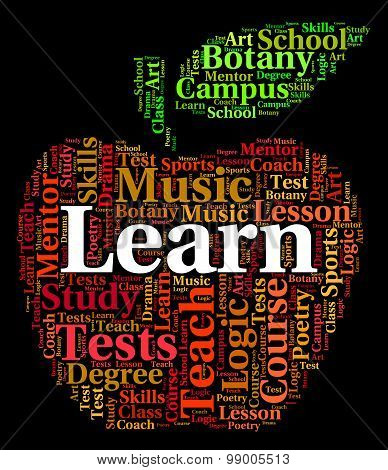Learn Word Means Tutoring Text And Training