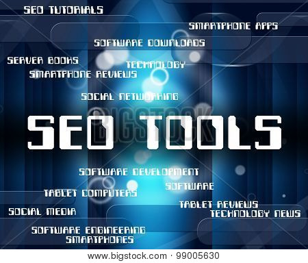 Seo Tools Indicates Gear Web And Appliance