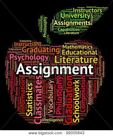 Assignment Word Indicates Home Work And Exercises