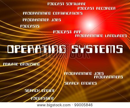 Operating Systems Shows Pc Technology And Text
