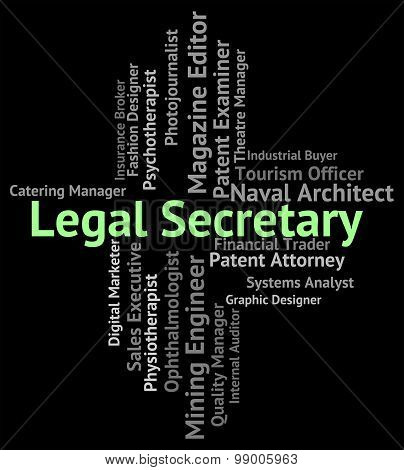Legal Secretary Shows Personal Assistant And Pa