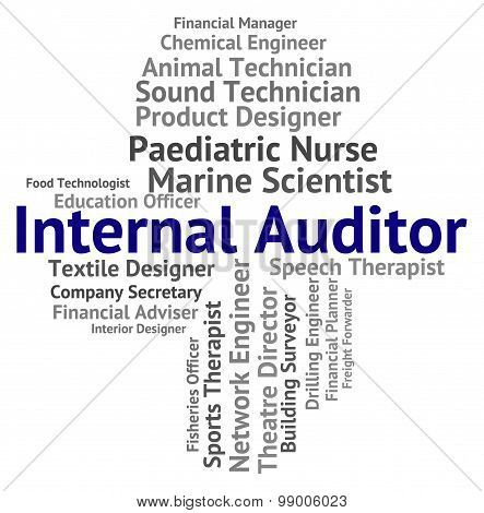 Internal Auditor Represents Text Actuary And Auditing