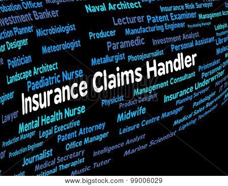 Insurance Claims Handler Indicates Recruitment Indemnity And Policy