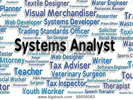 Systems Analyst Shows Technology Hire And Analyser