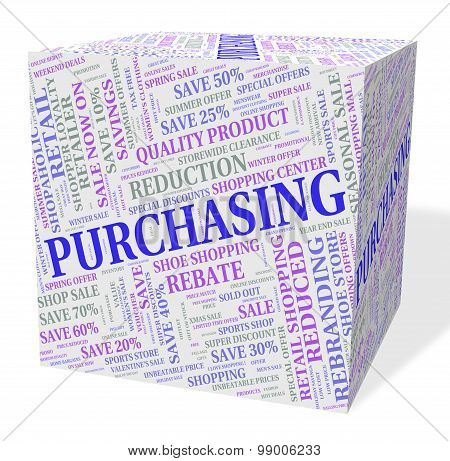 Purchasing Cube Means Client Purchase And Text