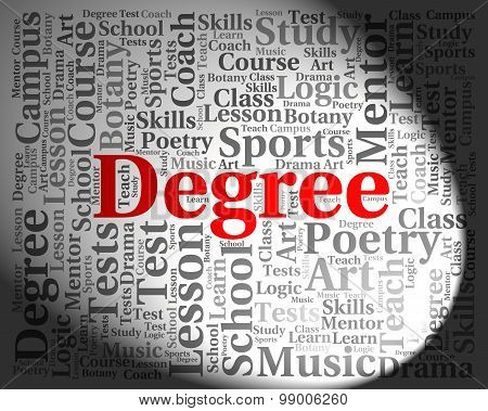 Degree Word Shows Degrees Words And Qualification