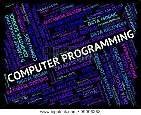 Computer Programming Indicates Software Design And Application