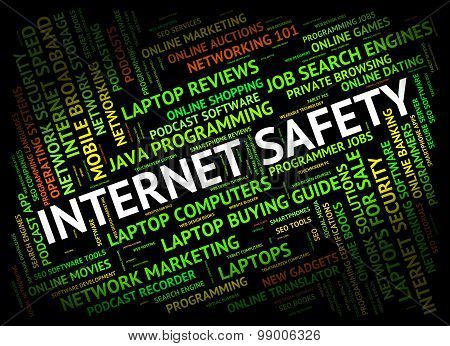 Internet Safety Represents World Wide Web And Beware