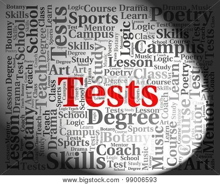 Tests Word Shows Examinations Examination And Questions