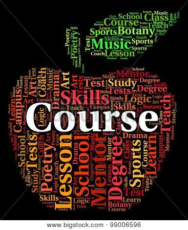 Course Word Represents Studying Educating And Learned