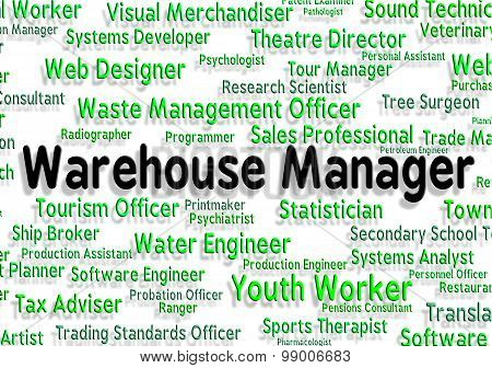 Warehouse Manager Represents Chief Managing And Principal