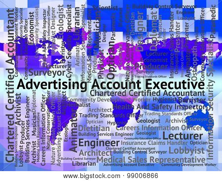 Advertising Account Executive Represents Managing Director And Ceo
