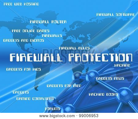 Firewall Protection Represents No Access And Encrypt
