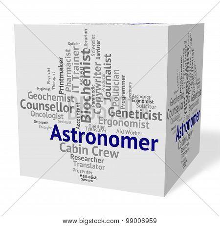 Astronomer Job Shows Star Gazer And Astronomers