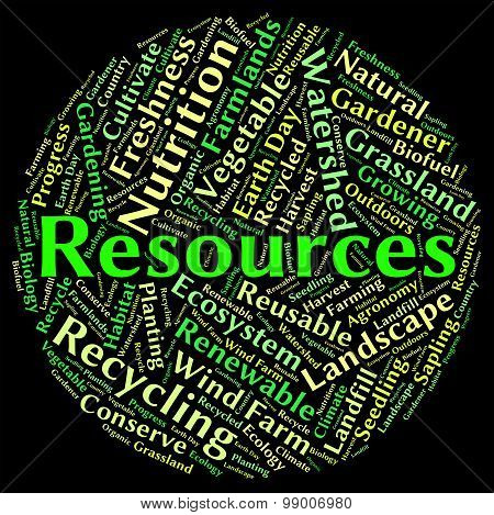 Natural Resources Represents Words Water And Gas
