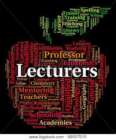Lecturers Word Shows Speeches Address And Words