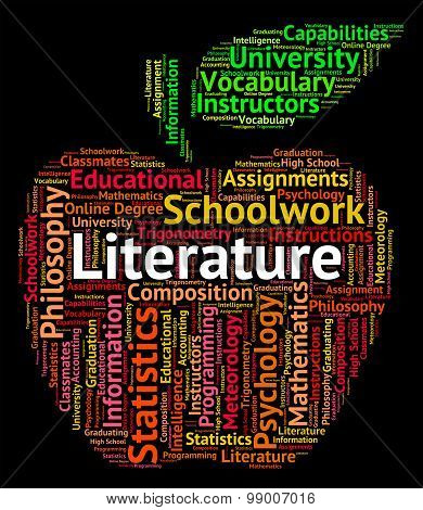 Literature Word Shows Written Works And Text