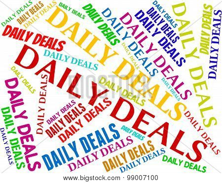 Daily Deals Represents Day Everyday And Transaction
