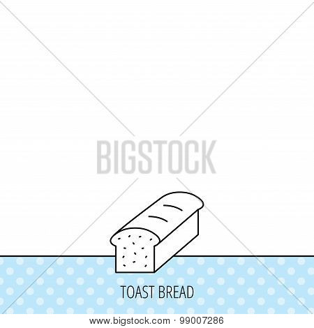 Toast icon. Sliced bread sign.