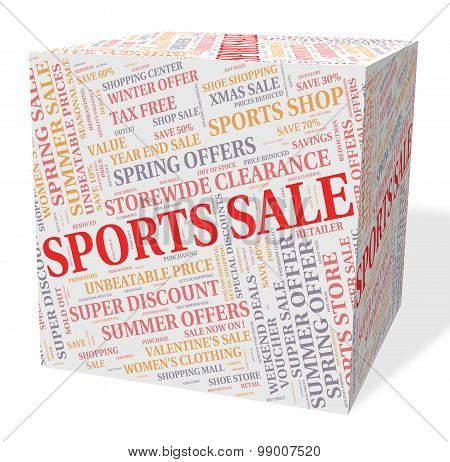 Sports Sale Represents Physical Exercise And Bargain