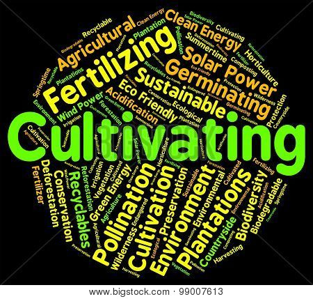 Cultivating Word Represents Grows Sowing And Sow