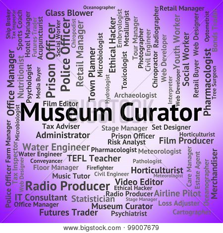Museum Curator Indicates Museums Steward And Gallery