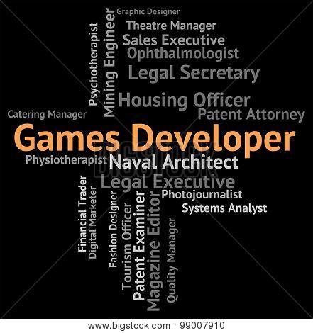 Games Developer Shows Play Time And Designer