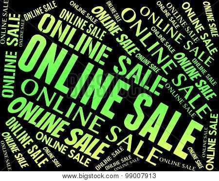 Online Sale Indicates World Wide Web And Words