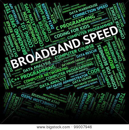 Broadband Speed Shows World Wide Web And Computer