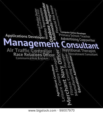 Management Consultant Indicates Position Executive And Managing