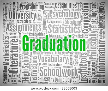 Graduation Word Represents University Phd And Diploma