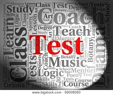 Test Word Shows Exams Assessment And Assess