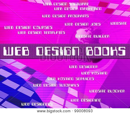Web Design Books Indicates Searching Website And Websites
